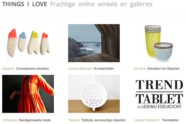 Things I Love Marion Pannekoek blog