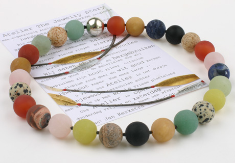 Necklace big round beads
