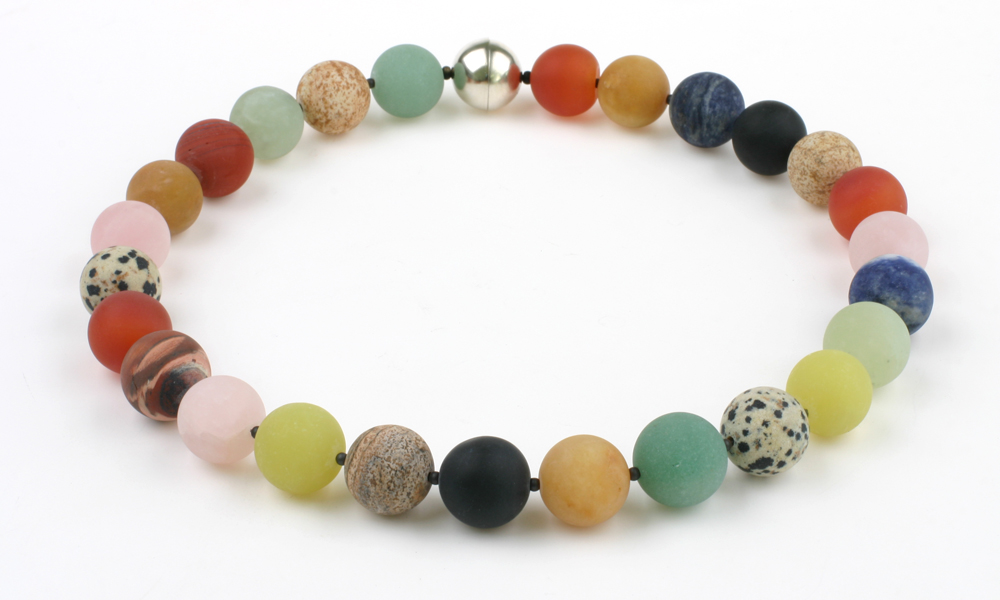 Necklace round gemstone beads BONTE STOET