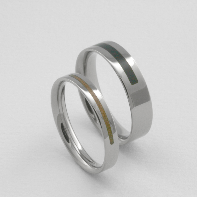 Wedding Ring Forever In White Gold With Wood Inlay The Jewelry Story