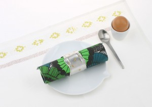 Silver napkin ring Croissant