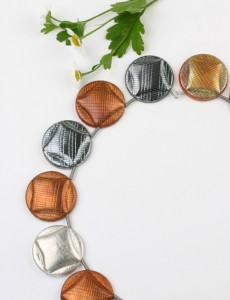 Necklace Bonbon in silver and copper