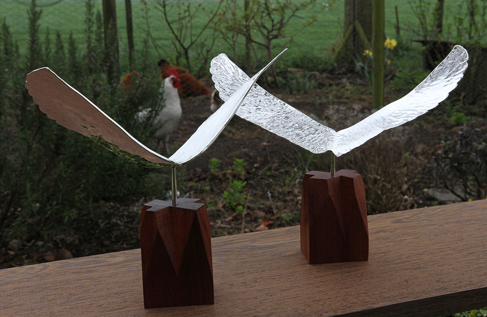 Small sculpture Silver Wings