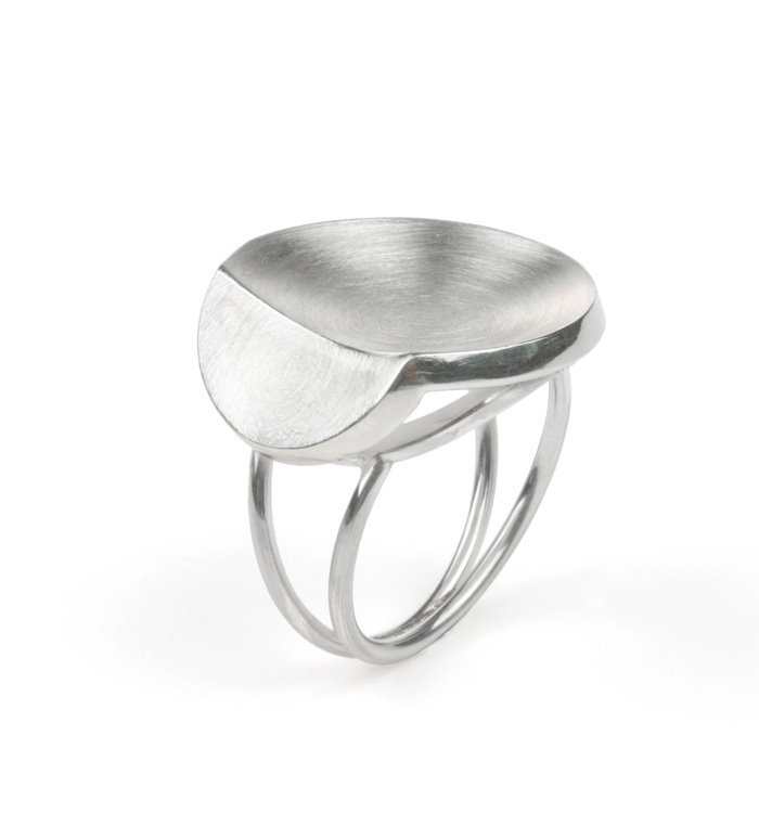 silver ring Small Leaf