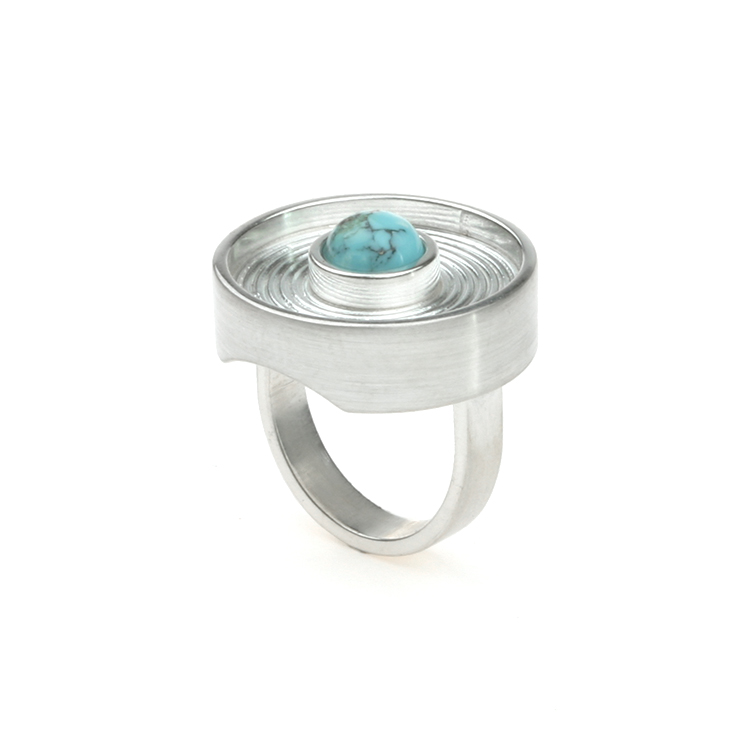 Ring Labyrinth silver turquois