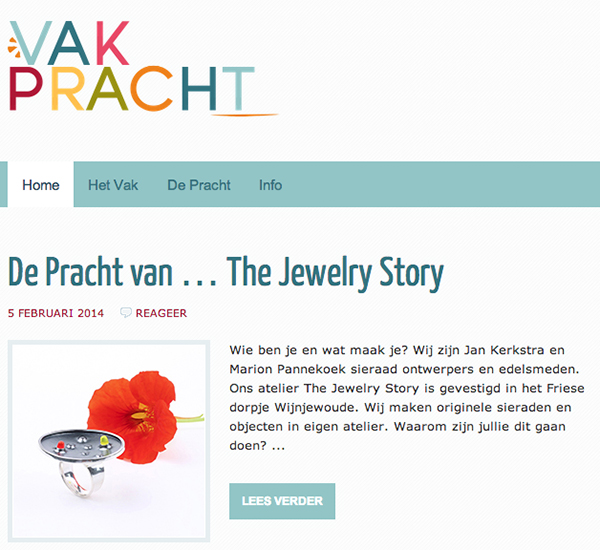 Our interview on VakPracht a Dutch platform for Craft