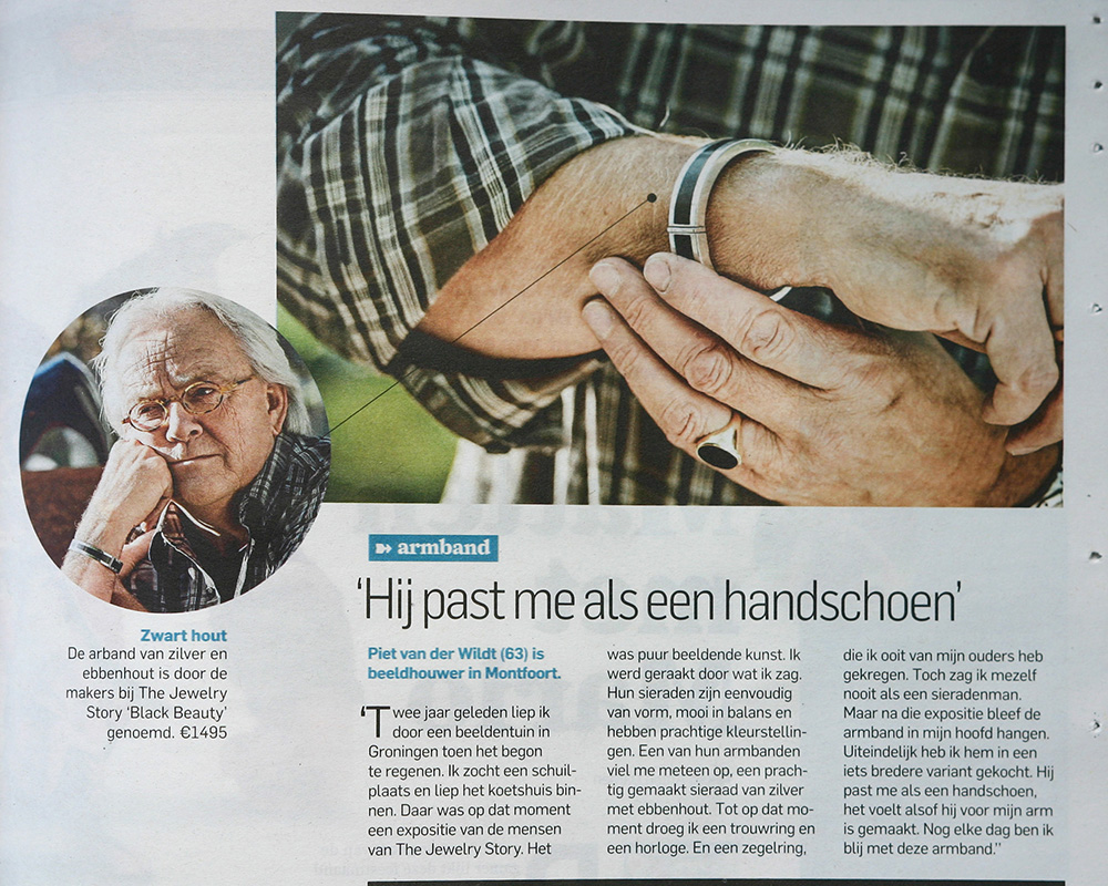 Article in the Dutch newspaper AD about bracelet Black Beauty