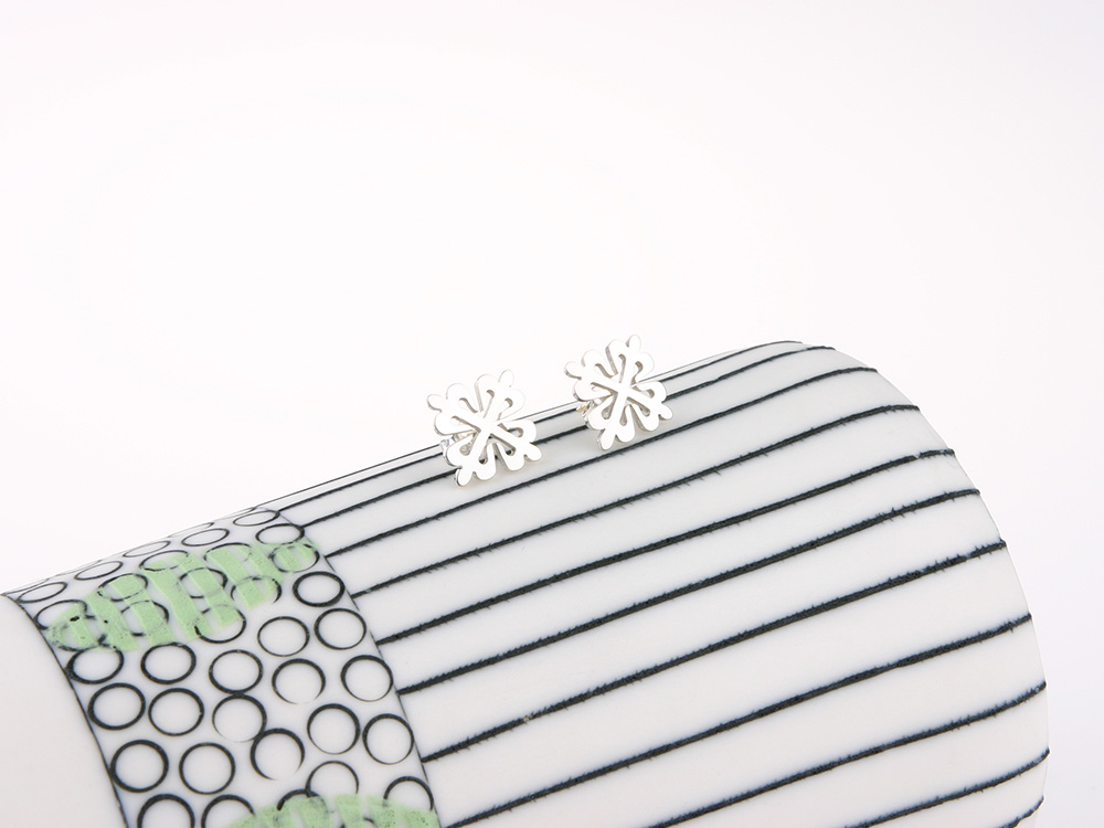 Calatrava Cross earrings silver