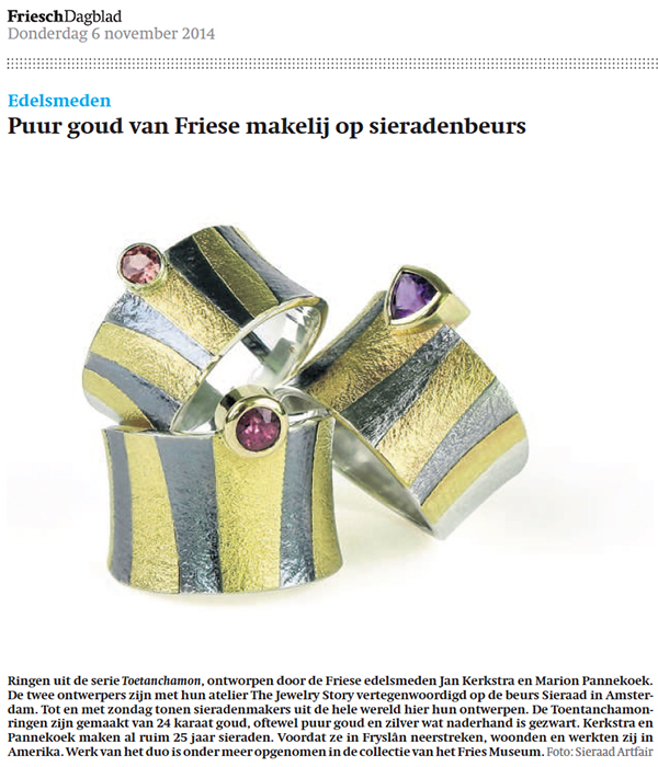 The Jewelry Story in the Dutch Newspaper