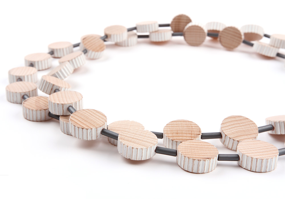 Necklace Nature made of beech wood