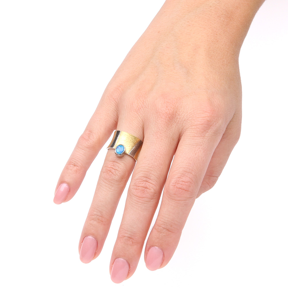 New Brede gouden ring met opaal | The Jewelry Story &DU84