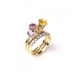 Ring of gold with sapphires