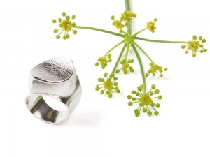 Large silver handmade ring