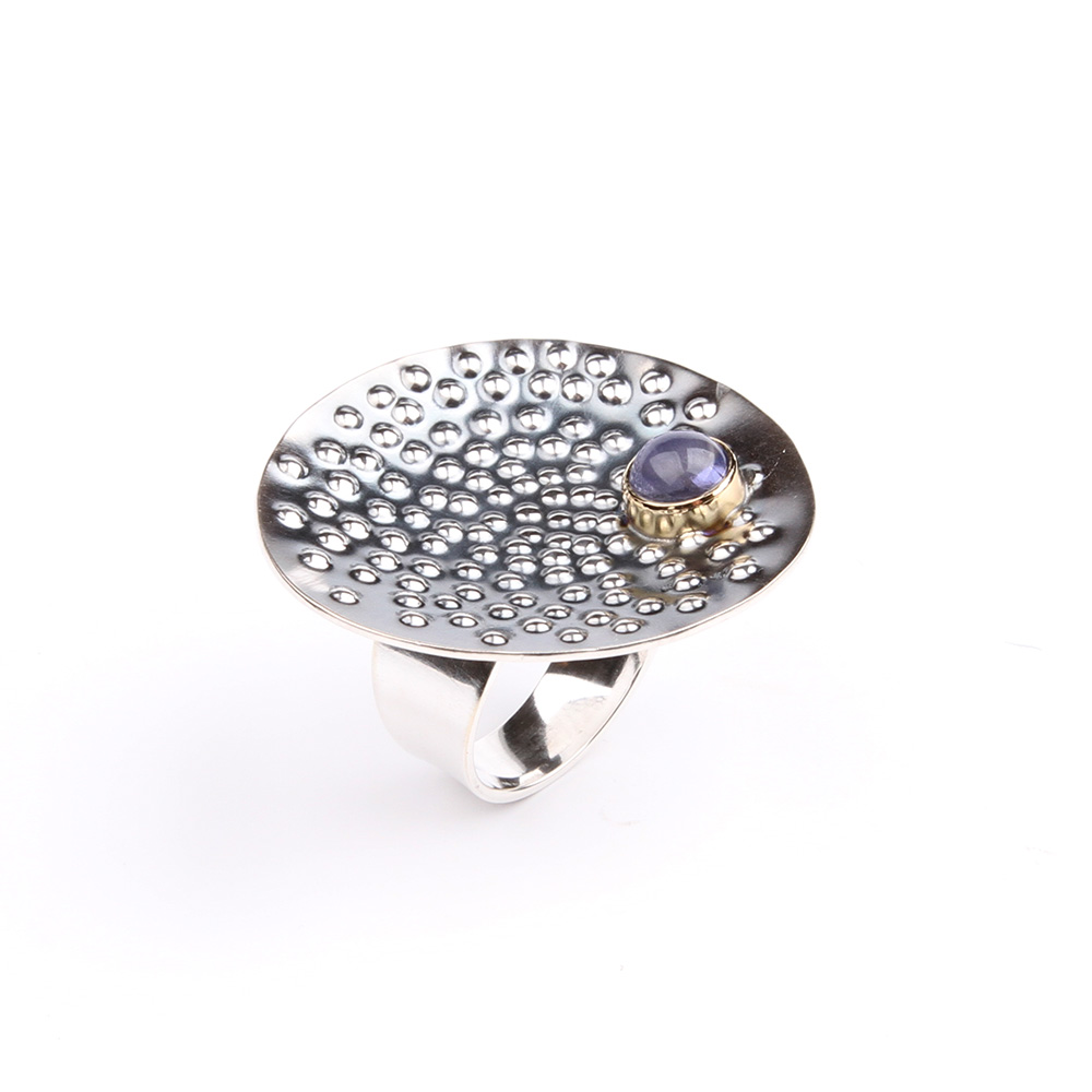 Ring Raindrops with iolite