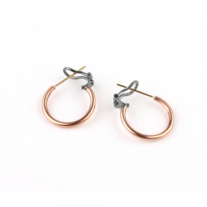 Large hoops in red gold or copper