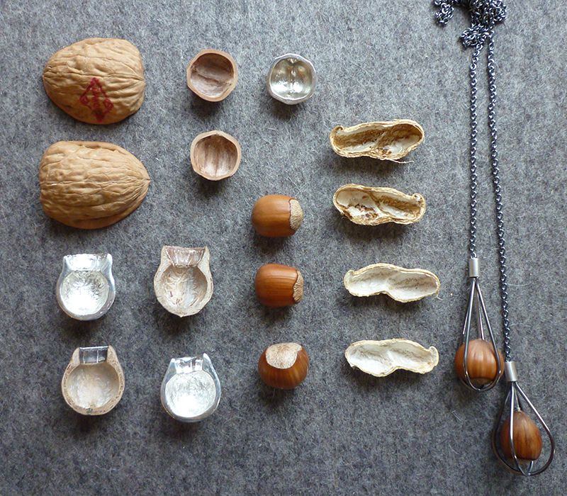 Nuts and seed pods as inspiration