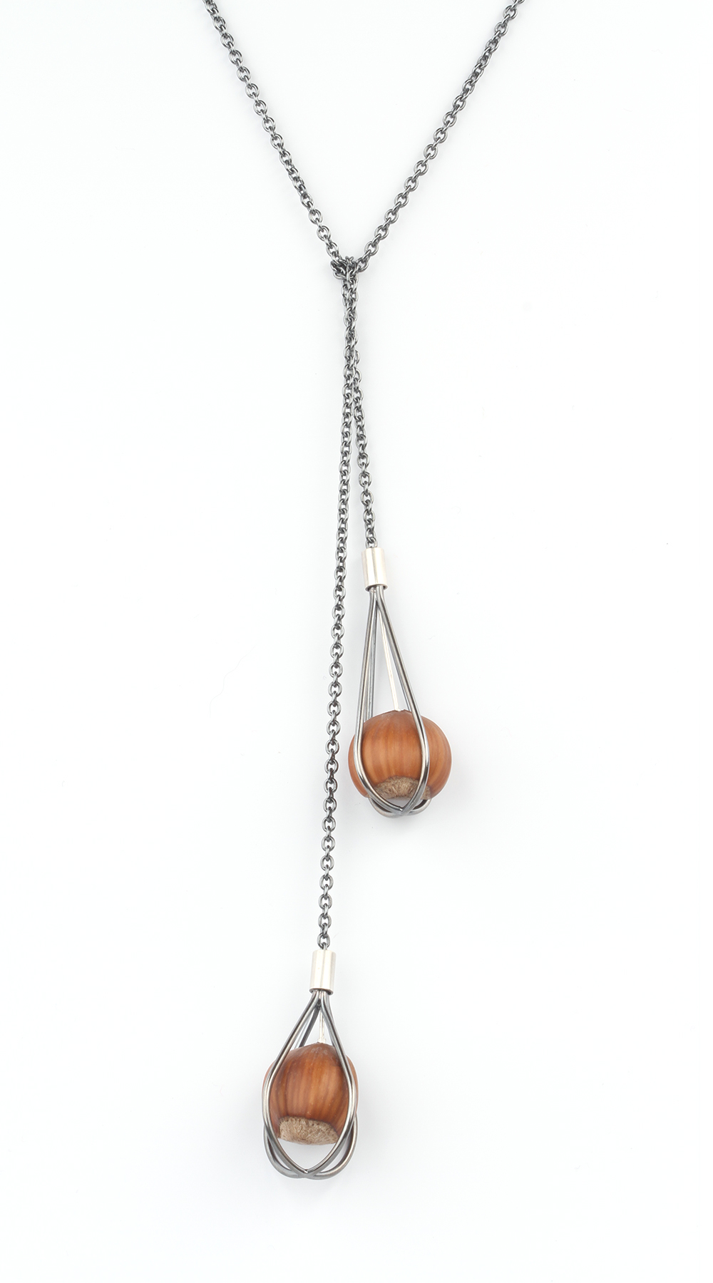 A necklace called Trapped Hazelnuts