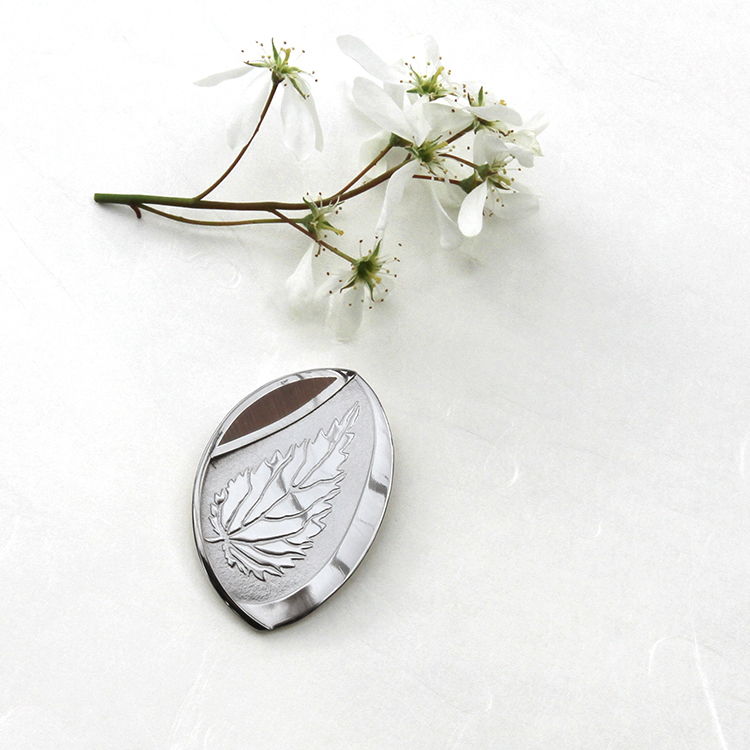 Silver Stinging Nettle brooch