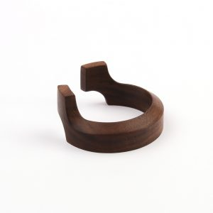 Bracelet made of black walnut wood