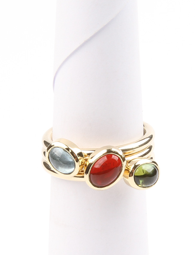 ring with semi precious stones