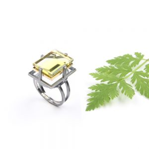 Jasmine a silver ring with citrine