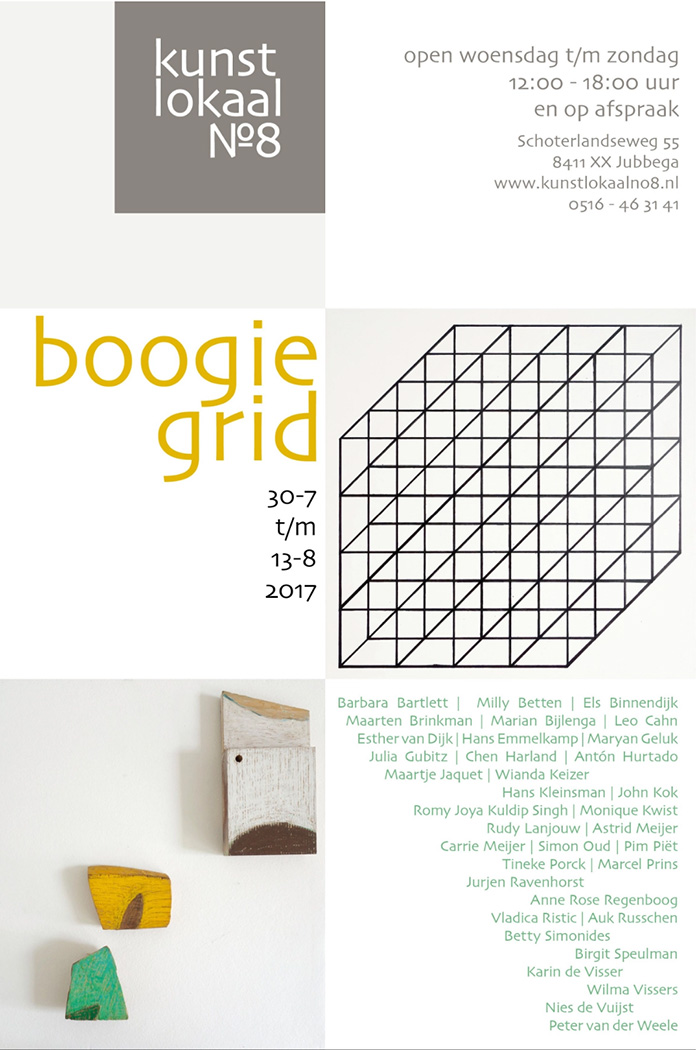 Exhibition Boogie Grid at Kunstlokaal No. 8