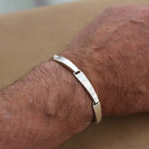 Beautiful robust silver men's bracelet