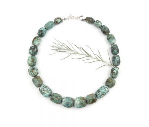 Gorgeous turquoise necklace in a sea green color