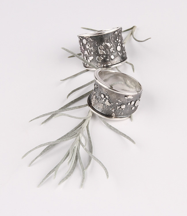 Wide silver ring Sophie