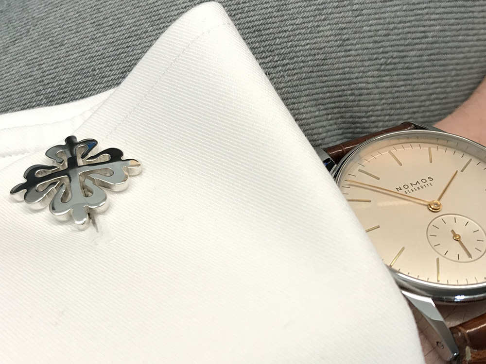 Calatrava Cross cuff links silver
