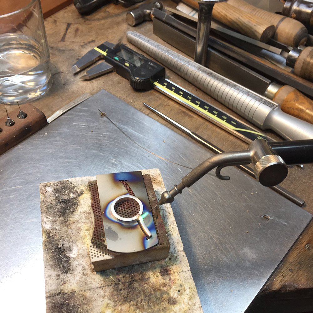 Soldering the silver