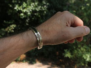 Mens bracelet made of ebony