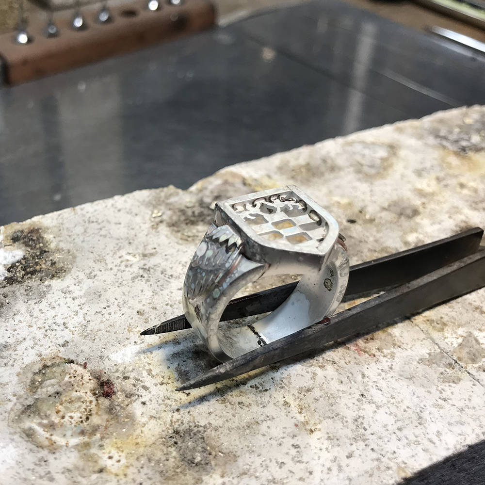 Soldering the ring together