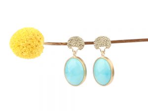 Long earrings with Persian turquoise