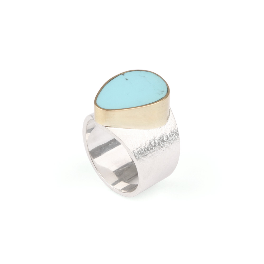 Silver ring with Turquoise 5
