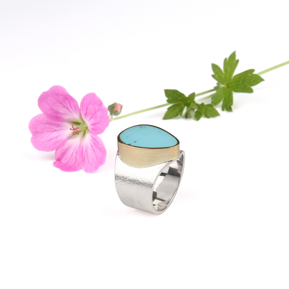 Ring with Persian Turquoise
